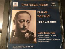 (CD) ELGAR  WALTON  Violin Concertos Jascha Heifetz , Violin Recording1941 1949