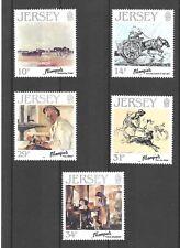 Jersey 1986 Jersey artistas 7th serie Sg397-401 Estampillada sin montar/Umm