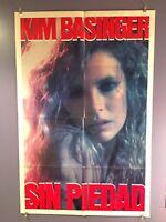 Sin Piedad aka No Mercy Original One Sheet Movie Poster 1986 Kim Basinger 1 80's