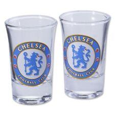 Official Chelsea FC Football Soccer Shot Glass Set Shooter Tumbler - 2 Pack