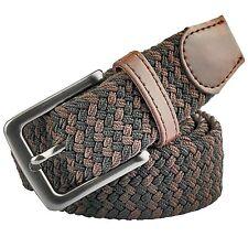 Moonsix Elastic Braided Belts for Men Women,PU Leather Stretch Web Belt #7LX