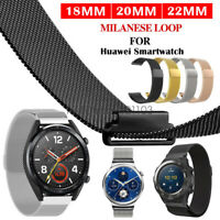 Stainless Steel Milanese Loop Watch Band Strap For Huawei Watch GT 2 Pro Classic