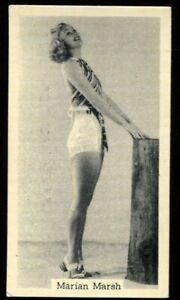 Tobacco Card, Murray Sons, BATHING BELLES, 1939, Marian Marsh, #6