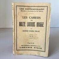 Rainer Maria Rilke Las Cuadernos de Malta Laurids Brigge Stock 1923