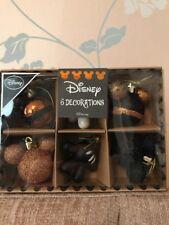 Disney Minnie Mickey Mouse Christmas Bauble Decoration Set Primark Gold Black