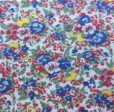 "Vintage Partial Feed Sack Classic Beautiful Blue Pansies approx 20"" x 18"""