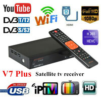 GTmedia V7 Plus DVB-T2/S2 Digital Satellite Receiver H.265 USB WiFi Set Top Box