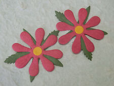 24 FUCHSIA MULBERRY paper FLOWERS MPFF25::: 55mm PARTY INVITES Card Scrapbooking