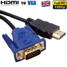 For DVD 1080P HDTV PC 1.8M HDMI Male to VGA Male Video Converter Adapter Cable