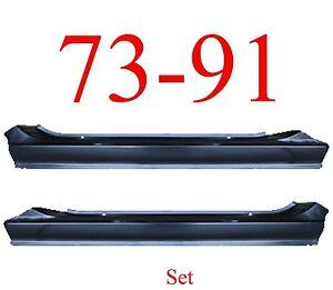 73 91 Chevy Blazer Slip-on Rocker Set Panel, GMC Jimmy Suburban Both Sides!