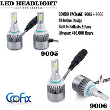 9006 9005 Total 400W 40000LM LED Headlight High Low Beam Combo Kit 6000K White