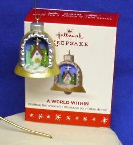 Hallmark Miniature Religious Ornament A World Within #2 2016 Church w/ Cross NIB
