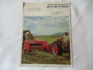Massey Ferguson MF9 MF12 baler brochure