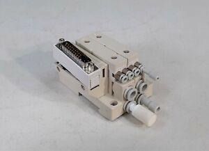 SMC SV1000-51D1-33AR-C8 D-Sub Connector Manifold Block Assembly *DAMAGED*