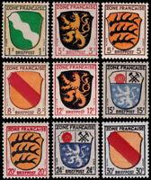 ✔️ GERMANY ALLIED FRENCH ZONE 1945 SHORT SET SC. 4N1-4/4N6-10 ** MNH OG [ST0017]