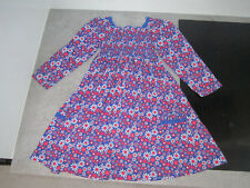 Blue Zoo girls 100% cotton jersey dress blue floral - long sleeves - 2 - 3 yr