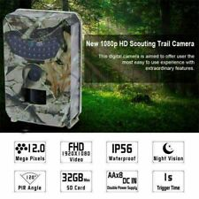 12MP Hunting Trail Camera HD 1080P Wildlife Scouting Cam Night Vision IP56