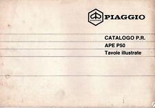 Libretto parti di ricambio tavole illustrate - Piaggio - Ape P50 - File JPG