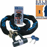 OXFORD H/D 1.5M CHAIN LOCK SOLD SECURE MOTORCYCLE MOTORBIKE SCOOTER SECURITY