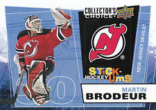 08-09 UPPER DECK COLLECTORS CHOICE STICK-UMS #UMS16 MARTIN BRODEUR DEVILS *8210