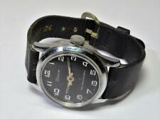 VTG 1960s Lucerne Swiss Made Wind Up Unisex Watch leather band