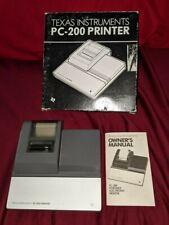 Texas Instruments Pc-200 Portable Electronic Printer for Ba-55,Ti-66 Calculators