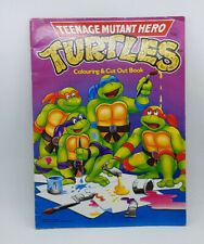 Teenage Mutant Hero Turtles Colouring & Cut Out Book,1990 Mirage TMNT