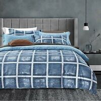 Modern Duvet Cover Quilted Bedding Set Single Double King Duvet Set & Pillowcase