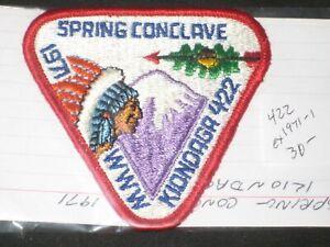Kiondaga 422 1971 Spring Conclave Patch  eX1971-1