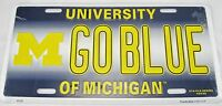 GO BLUE STATE LICENSE PLATE MICHIGAN UNIVERSITY FOOTBALL WOLVERINES SIGN L935