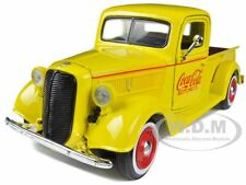 "1937 FORD PICKUP TRUCK YELLOW ""COCA COLA"" 1/24 BY MOTORCITY CLASSICS 433213"