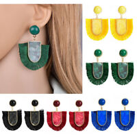 Bohemia Drop Dangle Boho Women Stud Fashion Tassel Fringe Earrings Jewelry Long