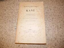 1915.Les grands philosophes.Kant.Ruyssen