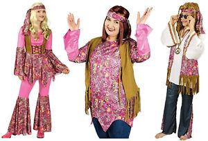 70er 80er Jahre Hemd Kleid Kostüm Herren Damen Hippie Hippy Hippiekostüm Anzug