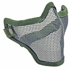 1G Strike Steel High Impact Adjustable Mesh Airsoft Half Mask Face Protector OD