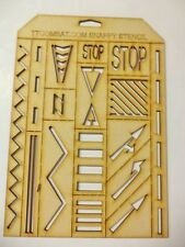 Wargames Marine Guard Imperial Space Mega Scenery Road Sign Snappy Stencil