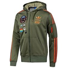 Adidas Originals Star Wars X Wing Hoodie Military Jacket Mens Size's Medium M