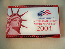 2004 U.S. MINT SILVER PROOF SET WITH BOX AND COA FROM ORIGINAL OWNER!