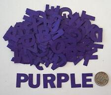NO 258 Scrapbooking - 130 Purple Alphabet Letters - Not Stickers - Scrapbook
