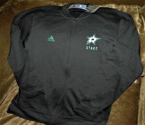 Dallas Stars full zip jacket! MEN's large Adidas Climawarm winter gear black