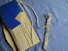 """Lacet à dentelle ancien XIXè """"mignardise"""" pour crochet + échantillon + carnet"""
