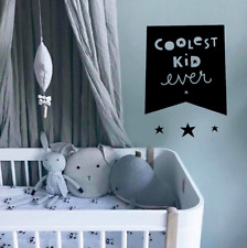 Coolest Kid Ever stars baby room Quote Wall Sticker Bedroom Removable Decal DIY