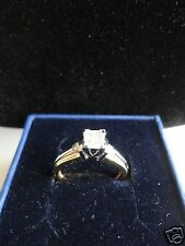 DIAMOND 14KP SOLID GOLD RING SIZE 6.5 LIMITED EDITION DESIGNER 100% AUTHENTIC