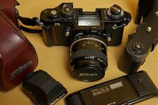 Nikon F3 + 35mm f2 Data Back MF-14 Motor Winder MD-4 + leather case from EUROPE