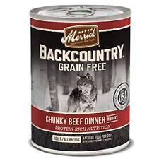 Merrick 12 Can Backcountry Chunky Beef 12.7 oz