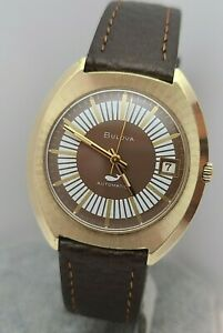 Vintage Bulova Sea king 11 ANACD Men's Automatic watch date 17Jewels swiss 1970