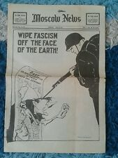 Moscow News. June 27th 1941. Wipe fascism off the face of the Earth.Hitler.