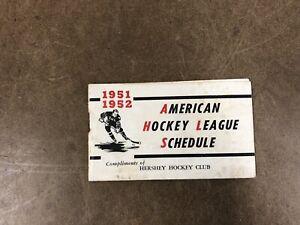 Vintage 1951 1952 AHL Schedule HERSHEY HOCKEY CLUB bears pennsylvania pa 23799