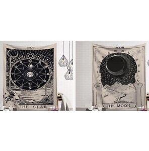 Zodiac Sign Moon Star Yoga Tapestry Velvet Wall Decor Home Decoration Hanging
