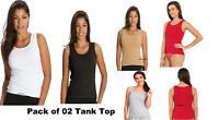 Women's Sleeveless Comfies Tank Top Solid Ribbed Style#1535 Size-S M L XL Jockey